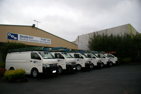 Utes used for electrical service on the Mornington Peninsula