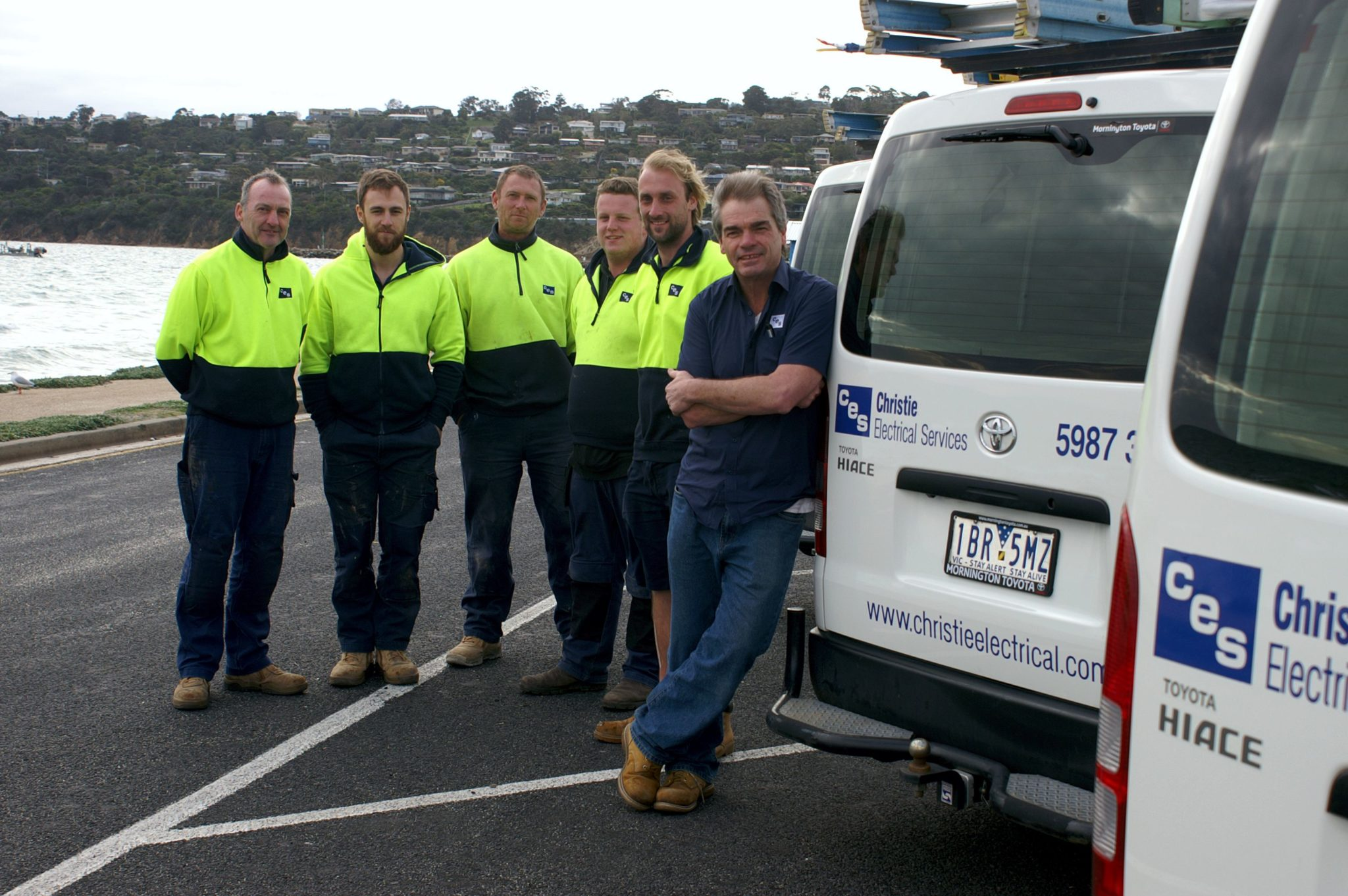 Our team of electricians on the Mornington Peninsula